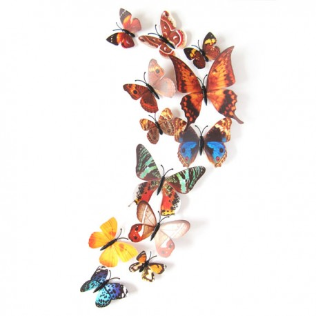"""3D Sienos lipdukai """"Rudeniniai drugeliai"""""""