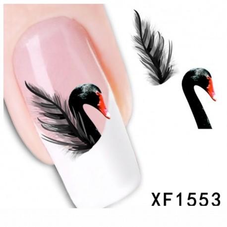 Nagų lipdukai Black Swan