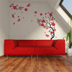 Sienos lipdukas Raudona vyšnia