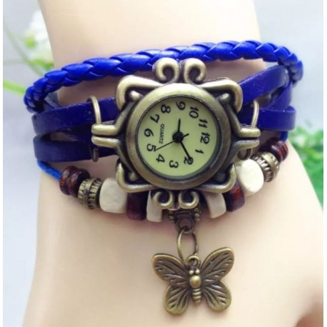Mėlynas laikrodis Butterfly