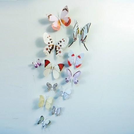 3D Sienos lipdukai Snieginiai drugeliai