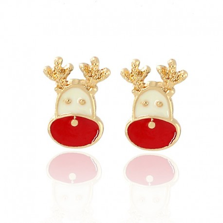 Kalėdiniai auskarai Elk
