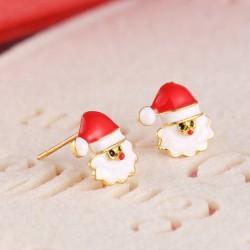 Kalėdiniai auskarai Santa Claus