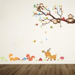 Sienos lipdukai Miško gyvūnai