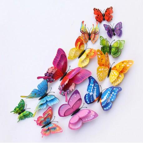 3D sienos lipdukai drugeliai