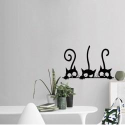 Sienos lipdukas 3 Black Cats