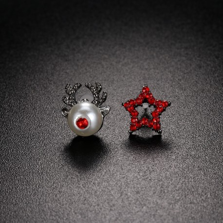 Auskarai Deer and Star
