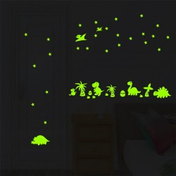 Švytintis tamsoje sienos lipdukas Dinosaur
