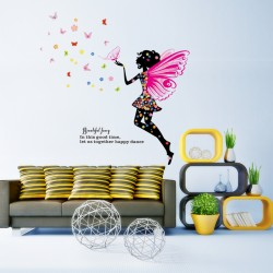 Sienos lipdukas Butterfly Fairy