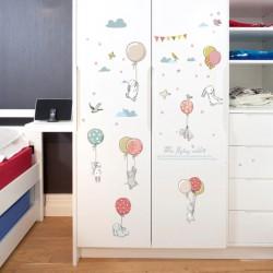 Sienos lipdukas Balloon Rabbit