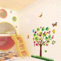 Sienos lipdukas Tree Birds