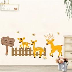 Sienos lipdukas Deer Family