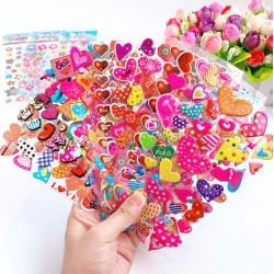 3D lipdukai širdelės