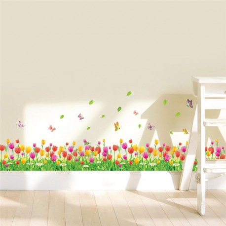 Sienos lipdukas Tulpių pieva