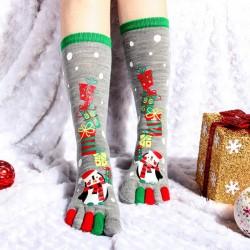 Pirštuotos Kalėdinės kojinės