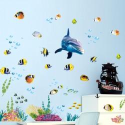 Sienos lipdukas Dolphin