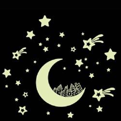 Sienos lipdukas Švytintis mėnulis