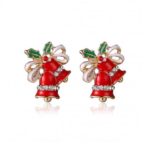 Kalėdiniai auskarai Red Bell