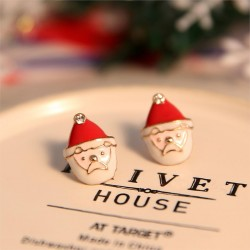Kalėdiniai auskarai Santa Clous