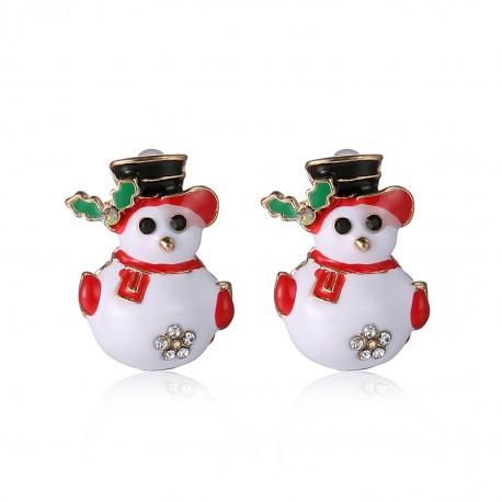 Kalėdiniai auskarai Snow Man